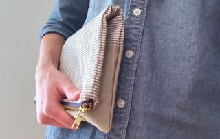 Gisele's handmade upcycled zippered clutch 4